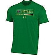 Under Armour Men's Notre Dame Fighting Irish Green Performance Cotton Football T-Shirt