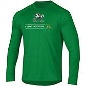 Under Armour Men's Notre Dame Fighting Irish Green Long Sleeve Tech Performance T-Shirt