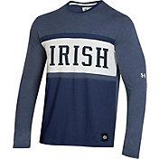 Under Armour Men's Notre Dame Fighting Irish Navy Iconic Long Sleeve Performance T-Shirt