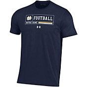 Under Armour Men's Notre Dame Fighting Irish Navy Performance Cotton Football T-Shirt