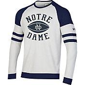 Under Armour Men's Notre Dame Fighting Irish Crew Pullover White Sweatshirt