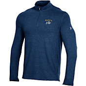 Under Armour Men's Navy Midshipmen Navy Charged Cotton Quarter-Zip Shirt