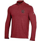 Under Armour Men's South Carolina Gamecocks Garnet Charged Cotton Quarter-Zip Shirt