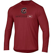 Under Armour Men's South Carolina Gamecocks Garnet Long Sleeve Tech Performance T-Shirt