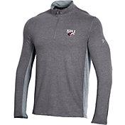 Under Armour Men's Southern Illinois  Salukis Grey Charged Cotton Quarter-Zip Shirt