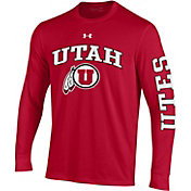 Under Armour Men's Utah Utes Crimson Performance Cotton Long Sleeve T-Shirt