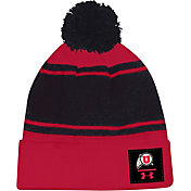 Under Armour Men's Utah Utes Crimson Pom Knit Beanie