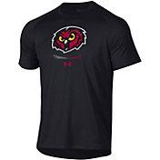 Under Armour Men's Temple Owls Tech Performance Black T-Shirt