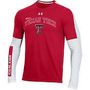 Under Armour Men's Texas Tech Red Raiders Red Bench Long Sleeve T-Shirt
