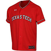 Under Armour Men's Texas Tech Red Raiders Red Replica Baseball Jersey