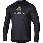 Under Armour Men's Wichita State Shockers Long Sleeve Tech Performance Black T-Shirt