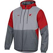 Under Armour Men's Wisconsin Badgers Grey Fieldhouse Full-Zip Jacket