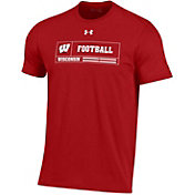 Under Armour Men's Wisconsin Badgers Red Performance Cotton Football T-Shirt