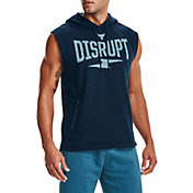 Under Armour Men's Project Rock Charged Cotton Disrupt Sleeveless Hoodie