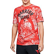 Under Armour Men's Project Rock Aloha Camo Warrior Mana Graphic T-Shirt