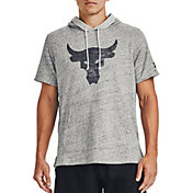 Under Armour Men's Project Rock Terry Short Sleeve Hoodie
