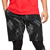 Under Armour Men's Project Rock Aloha Camo Printed Fleece Shorts