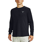 Under Armour Men's Project Rock Waffle Crewneck Long Sleeve Shirt