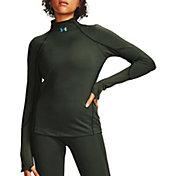 Under Armour Women's ColdGear Rush Jacquard Mock Neck Shirt