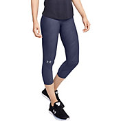 Under Armour Women's Jacquard Fly Fast Compression Capris Leggings
