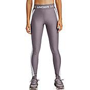 Under Armour Women's HeatGear Armour Wordmark Waistband Leggings