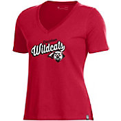 Under Armour Women's Davidson Wildcats Red Performance Cotton V-Neck T-Shirt
