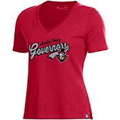 Under Armour Women's Austin Peay Governors Red Performance Cotton V-Neck T-Shirt