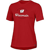 Under Armour Women's Wisconsin Badgers Red Performance Cotton T-Shirt