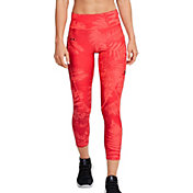 Under Armour Women's Project Rock HeatGear Printed Crop Leggings