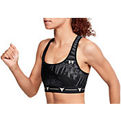 Under Armour Women's Project Rock Aloha Print Crossback Sports Bra