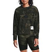 Under Armour Women's Project Rock Veteran's Day Fleece Crew Sweatshirt