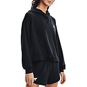 Under Armour Women's Project Rock Terry Pullover Hoodie