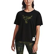 Under Armour Women's Project Rock Veteran's Day Brahma Bull T-Shirt