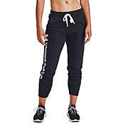 Under Armour Women's Rival Fleece Metallic Jogger Pants