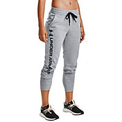 Under Armour Women's Rival Fleece Metallic Jogger Pants