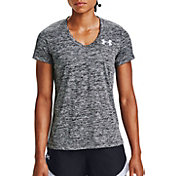 Under Armour Women's Tech Twist Graphic Back Wordmark Short Sleeve V-Neck T-Shirt