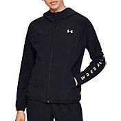 Under Armour Women's Woven Branded Full-Zip Hooded Jacket