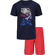 Under Armour Boys' Bass Bones T-Shirt and Shorts 2-Piece Set