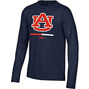 Under Armour Youth Auburn Tigers Blue Tech Performance Long Sleeve T-Shirt