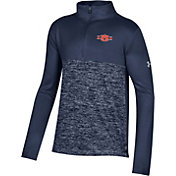 Under Armour Youth Auburn Tigers Blue Twist Quarter-Zip Performance Shirt