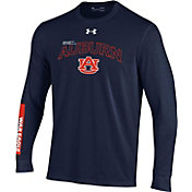 Under Armour Youth Auburn Tigers Red Bench Long Sleeve T-Shirt