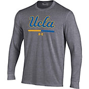 Under Armour Youth UCLA Bruins Grey Charged Cotton Long Sleeve Performance T-Shirt