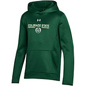 Under Armour Youth Colorado State Rams Green Armour Fleece Pullover Performance Hoodie