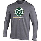 Under Armour Youth Colorado State Rams Grey Charged Cotton Long Sleeve Performance T-Shirt