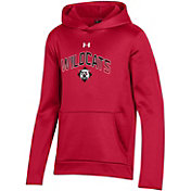 Under Armour Youth Davidson Wildcats Red Pullover Hoodie