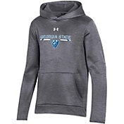 Under Armour Youth Georgia State  Panthers Grey Armour Fleece Pullover Performance Hoodie