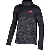 Under Armour Youth Maryland Terrapins Twist Quarter-Zip Performance Black Shirt