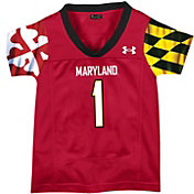 Under Armour Toddler Maryland Terrapins #1 Red Replica Football Jersey