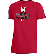 Under Armour Youth Maryland Terrapins Red Performance Cotton T-Shirt