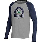 Under Armour Youth Notre Dame Fighting Irish Navy Performance Cotton Baseball T-Shirt